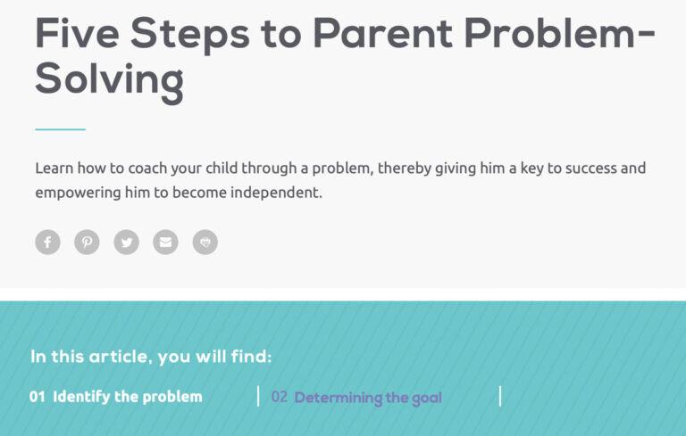 Five Steps to Parent Problem-Solving